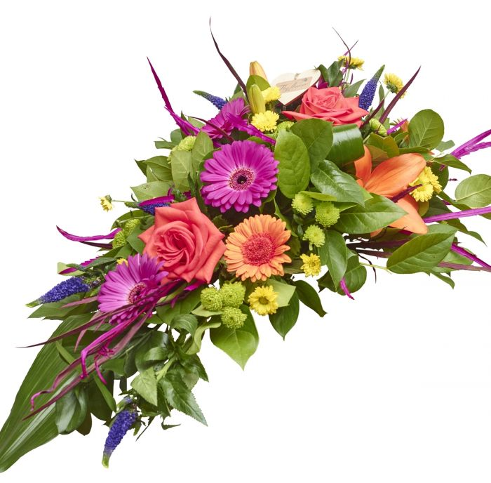 Vibrant Funeral Spray Sorry Flowers Love You And Anniversary ...