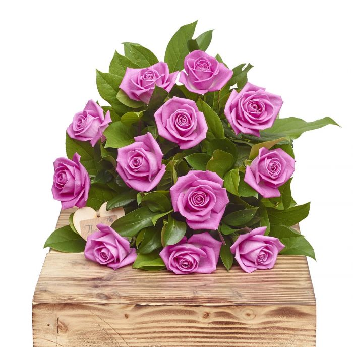 Pink Passion A Dozen Pink Roses Birthday Flowers Congratulations ...