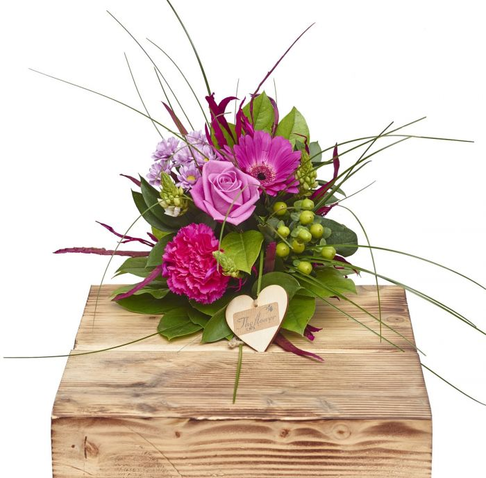 Mini Perfect Pinks Hand Tied Sorry Flowers Love You And Anniversary ...