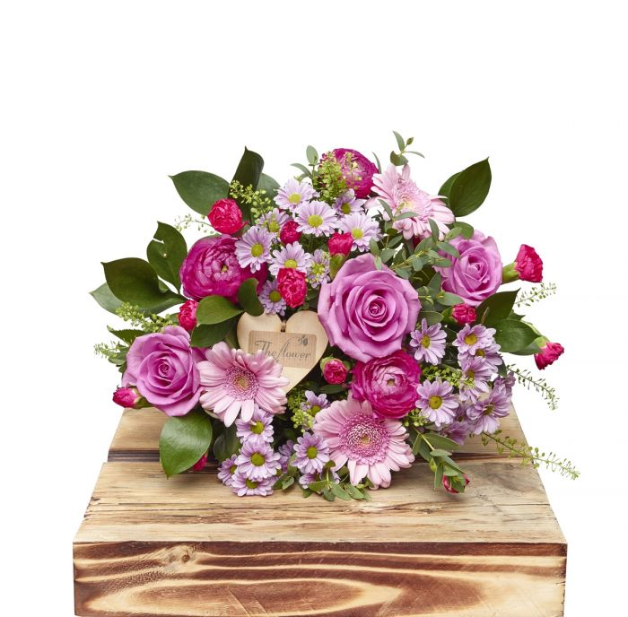 Baby Girl Hand Tied Bouquet Birthday Flowers Congratulations Thank ...