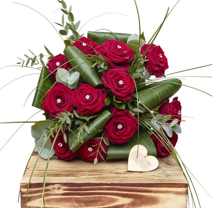 Glamour Dozen Red Roses Sorry Flowers Love You And Anniversary ...