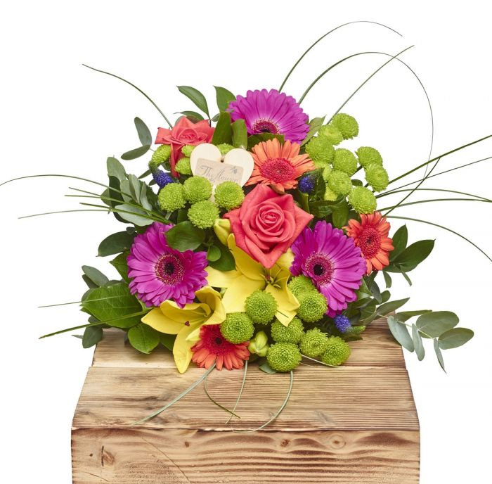 Beautiful Brights Hand Tied Bouquets Birthday Flowers ...