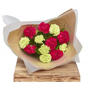 Classic Carnations Reds Flower Wrap Birthday Flowers Congratulations Thank You Bouquets