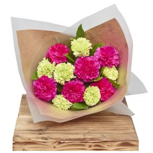 Classic Carnations Pinks Flower Gift Wrap Sorry Flowers Love You And Anniversary Bouquets
