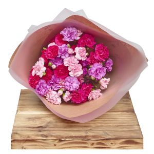 Classic Spray Carnations Pinks Floral Wrap Sorry Flowers Love You And Anniversary Bouquets