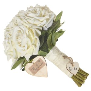 Brides Cream Rose Hand Tied Bouquet