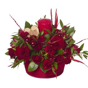 Christmas Table Centre Candle Arrangement Sorry Flowers Love You And Anniversary Gifts
