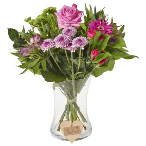 Classic Pinks Mixed Bunch Flower Wrap Birthday Flowers Congratulations Thank You Bouquets