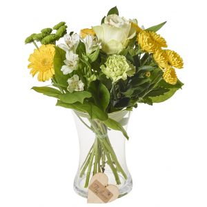 Classic Yellow Mixed Bunch Flower Gift Wrap Sorry Flowers Love You And Anniversary Bouquets