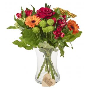 Classic Orange Mixed Bunch Flower Present Sorry Flowers Love You And Anniversary Bouquets