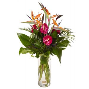 Tall Exotic Corporate Vase Arrangement
