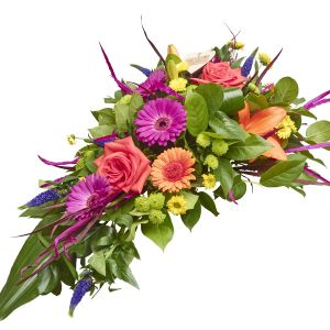 Vibrant Funeral Spray Sorry Flowers Love You And Anniversary Bouquets