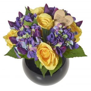 Artificial Flower Vase Arrangement - Flower Gift - Artificial Flower Gift