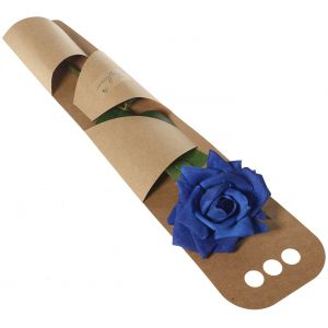 Artificial Blue Rose Gift Wrapped - Flower Gift - Artificial Flowers Gift - Rose Gift