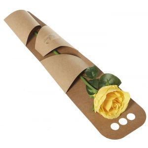 Artificial Yellow Rose Gift Wrapped - Flower Gift - Artificial Flowers Gift - Rose Gift