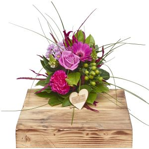 Mini Perfect Pinks Hand Tied Sorry Flowers Love You And Anniversary Bouquets
