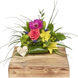 Mini Vibrant Hand Tied Birthday Flowers Congratulations Thank You Bouquets