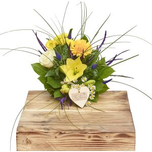Mini Citrus Blues Hand Tied Sorry Flowers Love You And Anniversary Bouquets