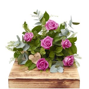 Half Dozen Pink Passion Roses Birthday Flowers Congratulations Thank You Bouquets