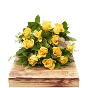 Lemon Sherbet Dozen Yellow Roses Sorry Flowers Love You And Anniversary Bouquets
