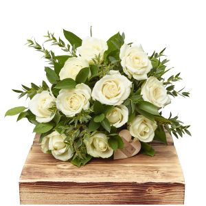 Elegant Whites Dozen White Roses Birthday Flowers Congratulations Thank You Bouquets