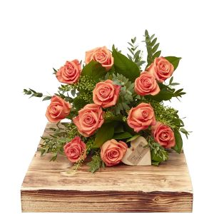 Vibrant Orange Dozen Roses Sorry Flowers Love You And Anniversary Bouquets