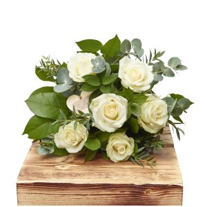 Elegant Whites Half Dozen White Roses Birthday Flowers Congratulations Thank You Bouquets