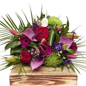 Contemporary Hand Tied Bouquet Birthday Flowers Congratulations Thank You Bouquets