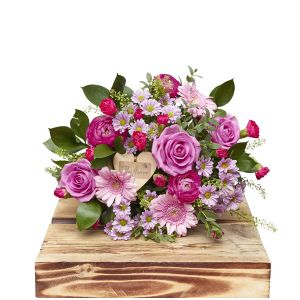Baby Girl Hand Tied Bouquet Birthday Flowers Congratulations Thank You Bouquets