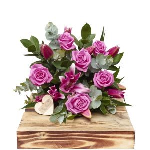 Pink Rose And Lily Hand Tied Bouquet Birthday Flowers Congratulations Thank You Bouquets