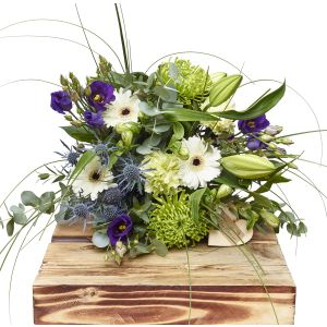 Meadow Blues Hand Tied Bouquet Sorry Flowers Love You And Anniversary Bouquets