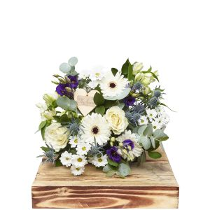 Baby Boy Hand Tied Bouquet Birthday Flowers Congratulations Thank You Bouquets