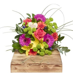 Beautiful Brights Hand Tied Bouquets Birthday Flowers Congratulations Thank You Bouquets