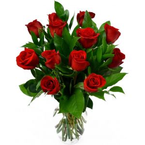 Dozen Red Roses - 12 Red Rose - Valentines Roses - Valentines Rose Flowers - Valentines Day Gift -  Delivery On Valentines Day!
