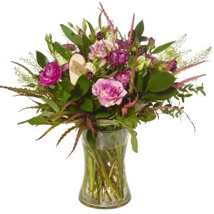 Pretty Pinks Vase Arrangement New Baby Flowers - New Baby Gift For Mum