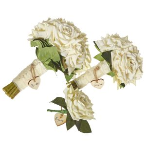 Diamante Cream Rose Wedding Package
